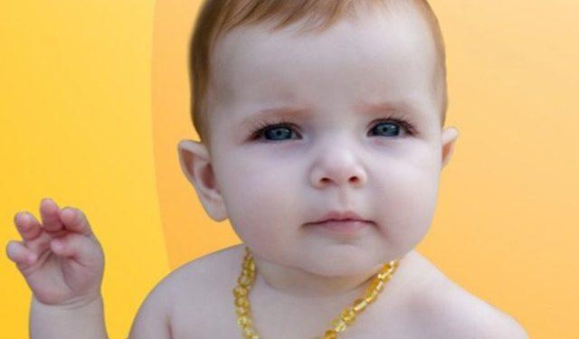 Colar de âmbar o calmante natural para bebês